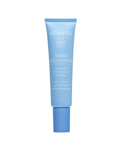 APIVITA Aqua Beelicious Δροσιστικό Gel Ενυδάτωσης για τα Μάτια με Λουλούδια & Μέλι, 15ml