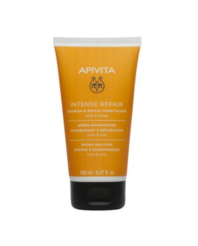 APIVITA Κρέμα Θρέψης & Επανόρθωσης για Ταλαιπωρημένα Μαλλιά με Ελιά & Μέλι, 150ml