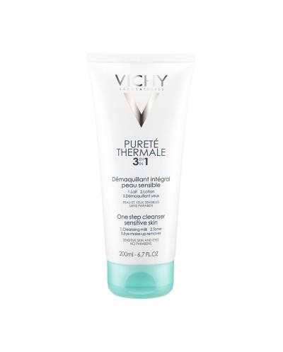 VICHY Purete Thermale 3 in 1 Cleanser Γαλάκτωμα Καθαρισμού&Ντεμακιγιάζ 3 σε 1 (Ευαίσθητες Επιδερμίδες), 200ml