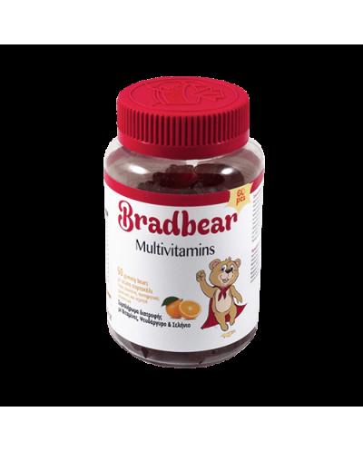 BRADEX Bradbear Multivitamins Ζελεδάκια με Βιταμίνες, Ψευδάργυρο & Σελήνιο Γεύση Πορτοκάλι, 60 gummy bears