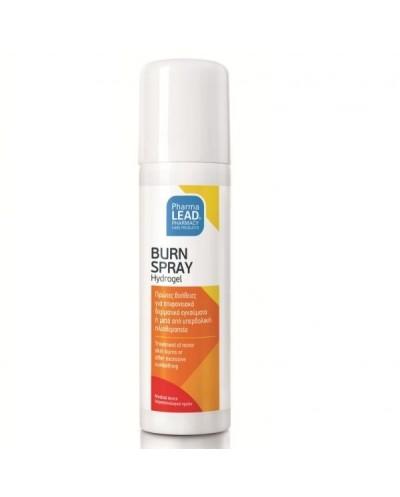 PHARMALEAD Burn Spray Hydrogel Πρώτες Βοήθειες για Επιφανειακά Θερμικά & Ηλιακά Εγκαύματα, 50ml