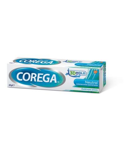 GSK CoregaNeutral Στερεωτική Κρέμα Οδοντοστοιχιών με Ουδέτερη Γεύση, 40g