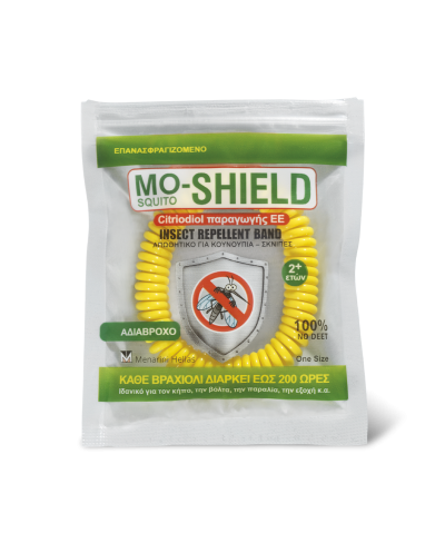 MENARINI Μo-Shield Insect Repellent Band Απωθητικό Βραχιόλι (Κίτρινο), 1 τεμάχιο