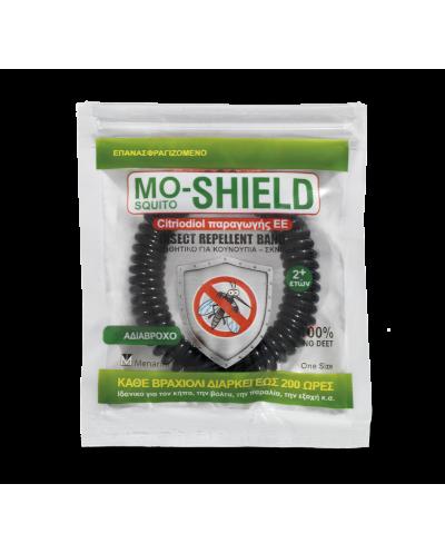 MENARINI Mo-Shield Insect Repellent Band Απωθητικό Βραχιόλι (Μαύρο) ,1 τεμάχιο