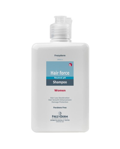 FREZYDERM Hair Force Shampoo Women Σαμπουάν για την Γυναικεία Τριχόπτωση, 200ml