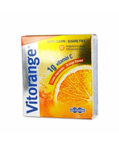 UNI-PHARMA Vitorange Βιταμίνη C 1000mg,12 αναβράζοντα δισκία