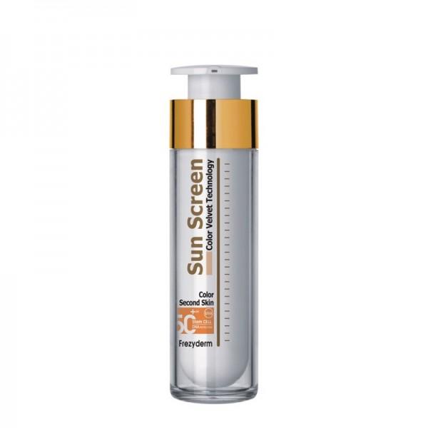FREZYDERM Sun Screen Color Velvet Face Cream SPF50+ Αντηλιακή με Xρώμα, 50ml
