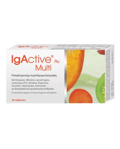 NOVAPHARM IgActive Flu Multi Πολυβιταμινούχο Συμπλήρωμα Διατροφής, 30 κάψουλες