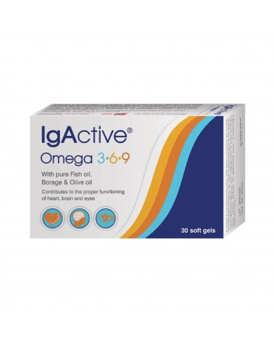 NOVAPHARM IgActive Omega 3-6-9 Αγνόιχθυέλαιο,Έλαιο Βοράγου&Ελαιόλαδου, 30 κάψουλες