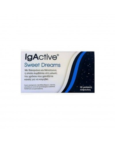 NOVAPHARM IgActive Sweet Dreams Συμπλήρωμα Διατροφής για Εύκολο Ύπνο, 30 κάψουλες