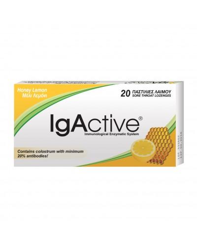 NOVAPHARM IgActive Extra Strength Παστίλιες με Μέλι & Λεμόνι Χωρίς Ζάχαρη, 20 τεμάχια