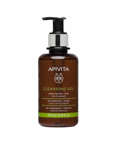APIVITA Cleansing Purifying Gel Propolis & Lime Gel Καθαρισμού για Λιπαρές/Μικτές Επιδερμίδες, 200ml