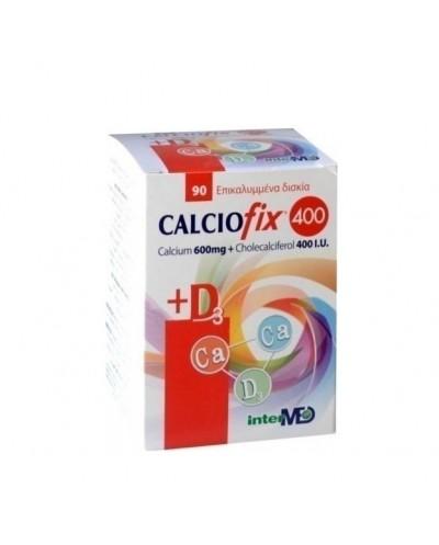 INTERMED Calciofix 400 Συμπλήρωμα διατροφής Ασβεστίου & Βιταμίνης D3, 90 δισκία