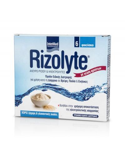 INTERMED Rizolyte Συμπλήρωμα διατροφής με Άλευρο Ρυζιού & Ηλεκτρολύτες, 6 φακελίσκοι