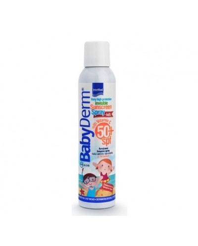 INTERMED BabyDerm Invisible Sunscreen SPF50+ for Kids Παιδικό Αντηλιακό Σπρέι, 200ml