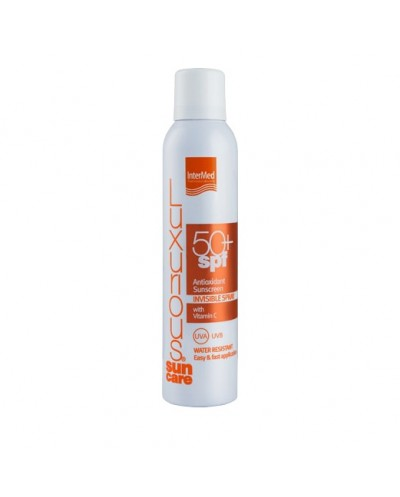 INTERMED Luxurious SunCare Antioxidant Sunscreen Invisible Spray SPF50+ Διάφανo Aντηλιακό Σώματος με Βιταμίνη C, 200ml