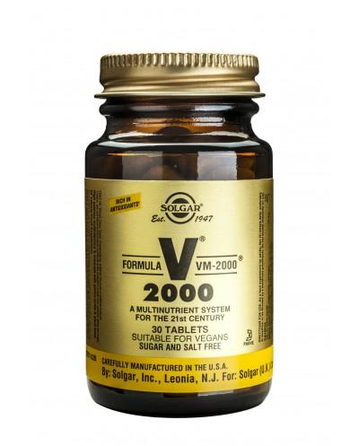 SOLGAR Formula VM-2000 Πολυβιταμίνη με Αντιοξειδωτικά, Πεπτικά ένζυμα & Αμινοξέα, 30 δισκία