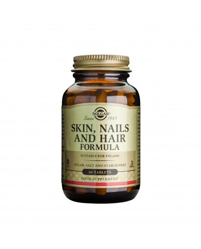SOLGAR Skin, Nails & Hair Formula Φόρμουλα για τα Μαλλιά, το Δέρμα & τα Νύχια, 60 ταμπλέτες