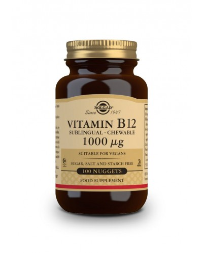 SOLGAR Vitamin B12 1000μg Βιταμίνη Β12, 100 υπογλώσσια δισκία