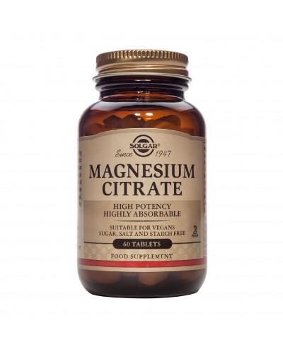 SOLGAR Citrate Magnesium 200mg Κιτρικό Μαγνήσιο, 60 ταμπλέτες