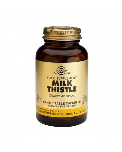 SOLGAR Milk Thistle Συμπλήρωμα διατροφής με Γαϊδουράγκαθο, 50 κάψουλες