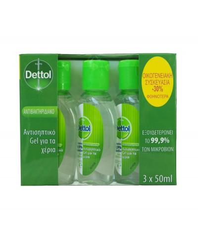 DETTOL Family Pack Αντισηπτικό Gel για τα χέρια, 3x50ml