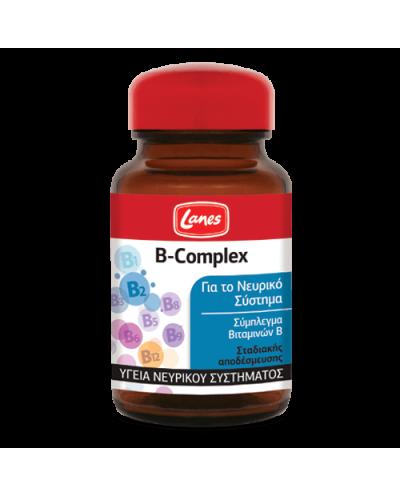 LANES Β-Complex Σύμπλεγμα Βιταμινών Β για Υγιές Νευρικό Σύστημα, 60 ταμπλέτες
